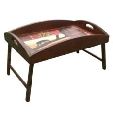 Столик для завтрака с высоким бортиком Пантера в закате