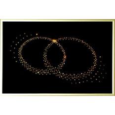 Картина с кристаллами Сваровски «Кольца»