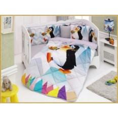 Детский комплект в кровать с бортиками V7
