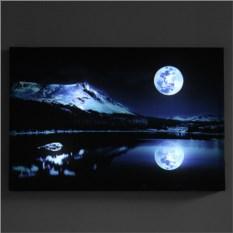Светящаяся картина «Лунная ночь» с пультом