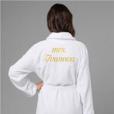 Женский халат с вышивкой Миссис