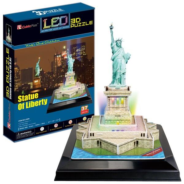 3D пазл Cubic Fun Статуя Свободы с иллюминацией (США)
