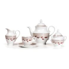 TANIT ELITE PLATINE чайный сервиз на 6 персон 15 предметов