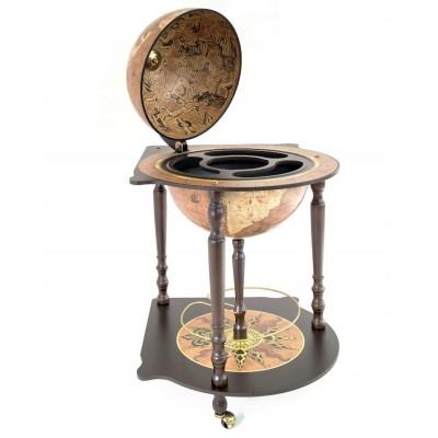 Напольный глобус-бар с картой мира Michelangelo