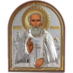 Маленькая серебряная икона Сергий Радонежский