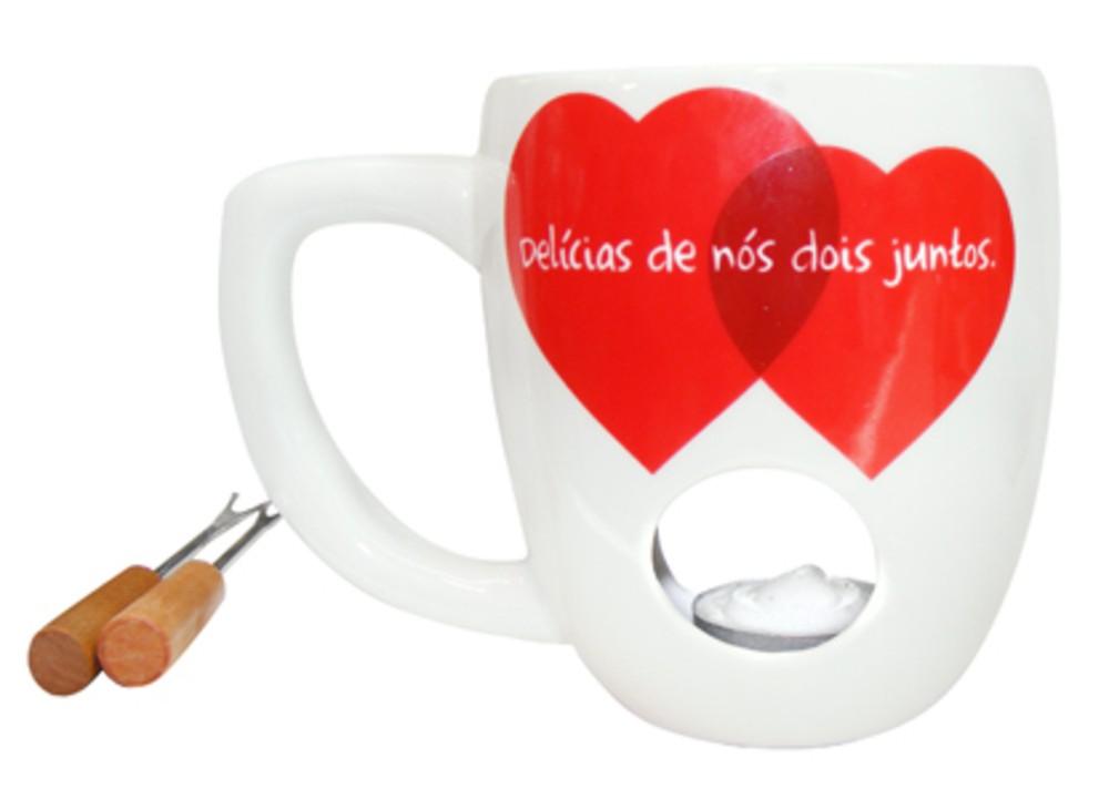 Набор для шоколадного фондю и чая «Горячий поцелуй»