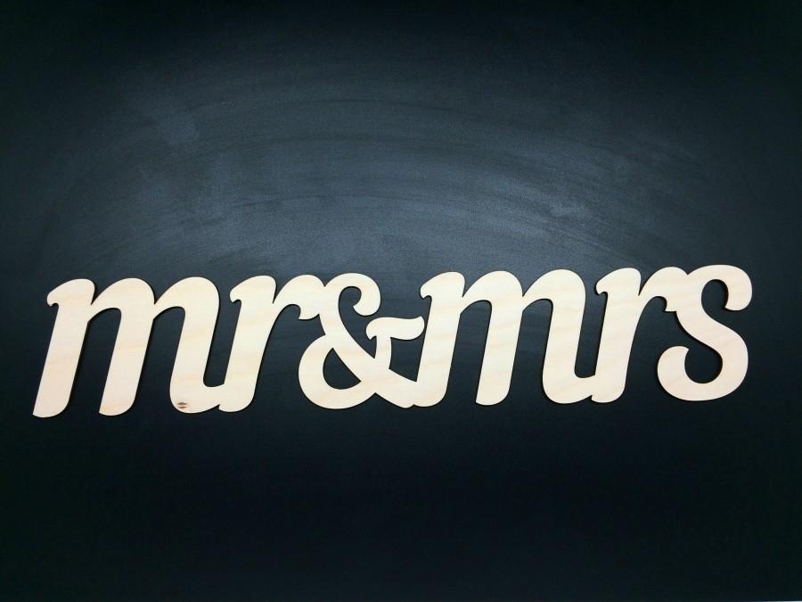 Декоративное слово Mr & Mrs