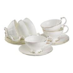 Чайный набор, белый цвет