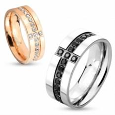 Парные кольца для влюбленных из стали Spikes
