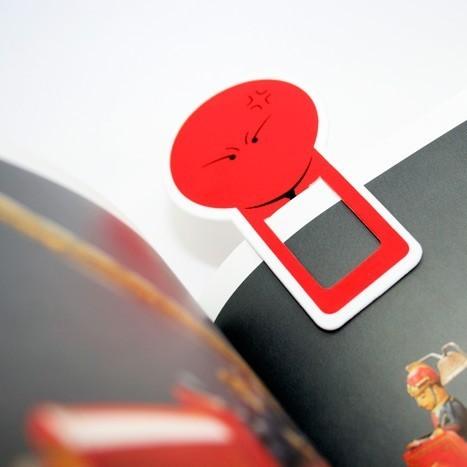 Закладка Смайл Красный