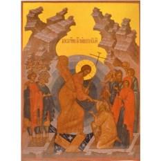 Икона на доске Воскресение Христово