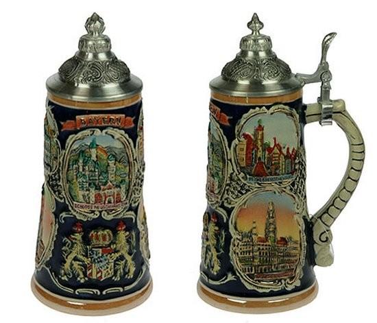 Пивная кружка с крышкой Замки Баварии