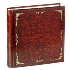 Кожаный фотоальбом с золотым тиснением