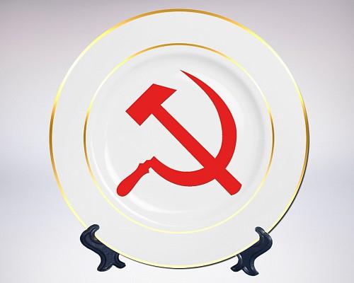 Сувенирная тарелка «Серп и молот»