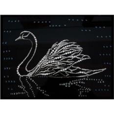 Картина Swarovski Лебедь