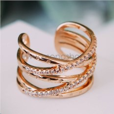 Кольцо «Сети любви» с австрийскими кристаллами