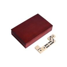 Настольная игра в домино в деревянном боксе