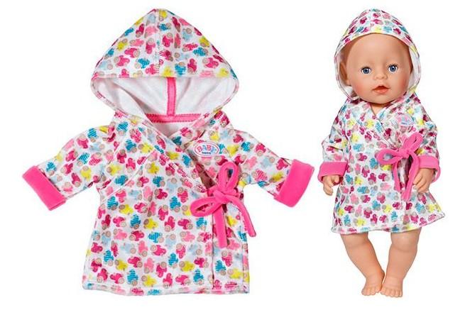 Халат с капюшоном для куклы BABY born