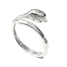 Кольцо-тотем Ёжик из серебра