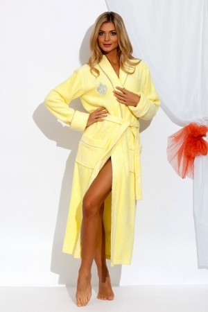 Женский халат из бамбука Peche monnaie limon