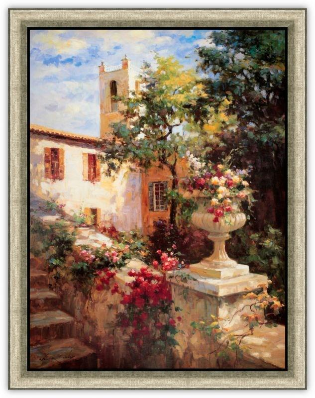 Картина (репродукция) Акрка с цветами - Вейл Оксли