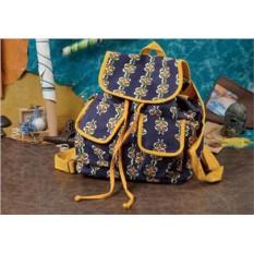 Рюкзак текстильный Socotra Узоры на темно-синем