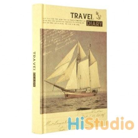 Блокнот винтажный Travel Diary. Парусник