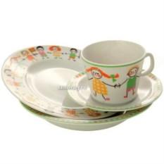 4-x предметный детский чайный комплект Хоровод (фарфор)