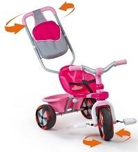 Трехколесный велосипед Baby Driver V розовый, Smoby