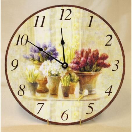 Настенные часы «Горшки с цветами»