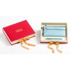 Подарочный набор: гелевая ручка, портмоне (экокожа)