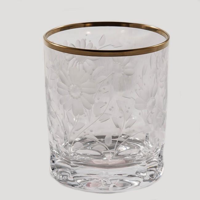 Набор из 6 стопок для водки Arnstadt Crystal Романтик (прозрачные с золотом)