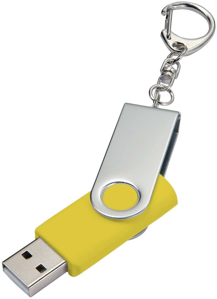 Флешка Twist, желтая, 8 Гб