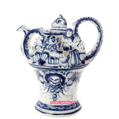 Чайник Гжель заварочный керамический Моя семья