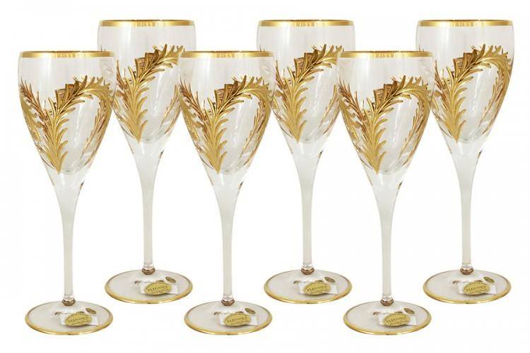 Подарочный набор из 6 бокалов для вина Золотая ветвь