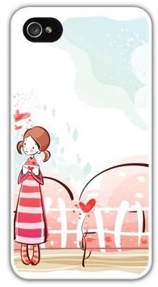 Чехол для iphone 4/4S (пластик), девочка