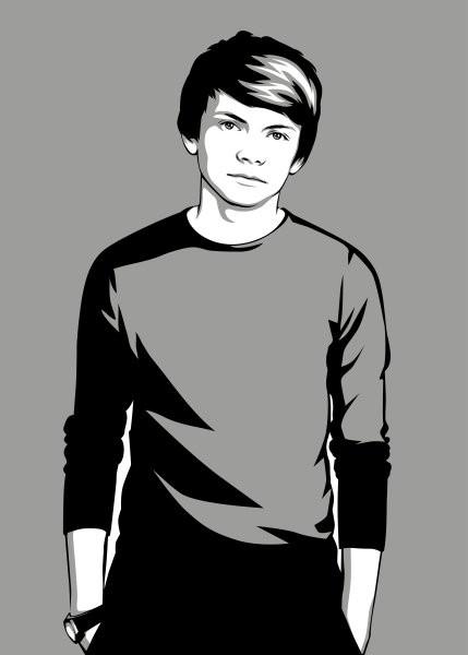 Мужской поп-арт портрет