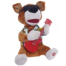 Поющая и танцующая игрушка Собачка с гитарой в очках