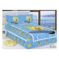 Голубое детское постельное белье Спанч боб