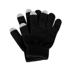 Черные перчатки для сенсорного экрана