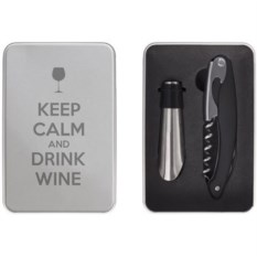 Набор для вина Keep calm and drink wine