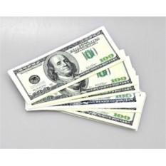 Пачка американских купюр «100 долларов»