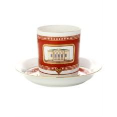 Фарфоровая чайная чашка с блюдцем Дом Щепочкиной