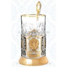 Подарочный набор для чая Нотариат России (позолота)