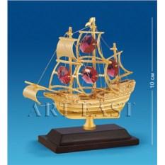 Фигурка с кристаллами Swarovski Корабль на подставке
