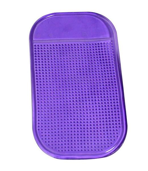 Фиолетовый антискользящий коврик в машину для телефона