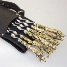 Шашлычный набор из 6 шампуров с мангалом «Звери»