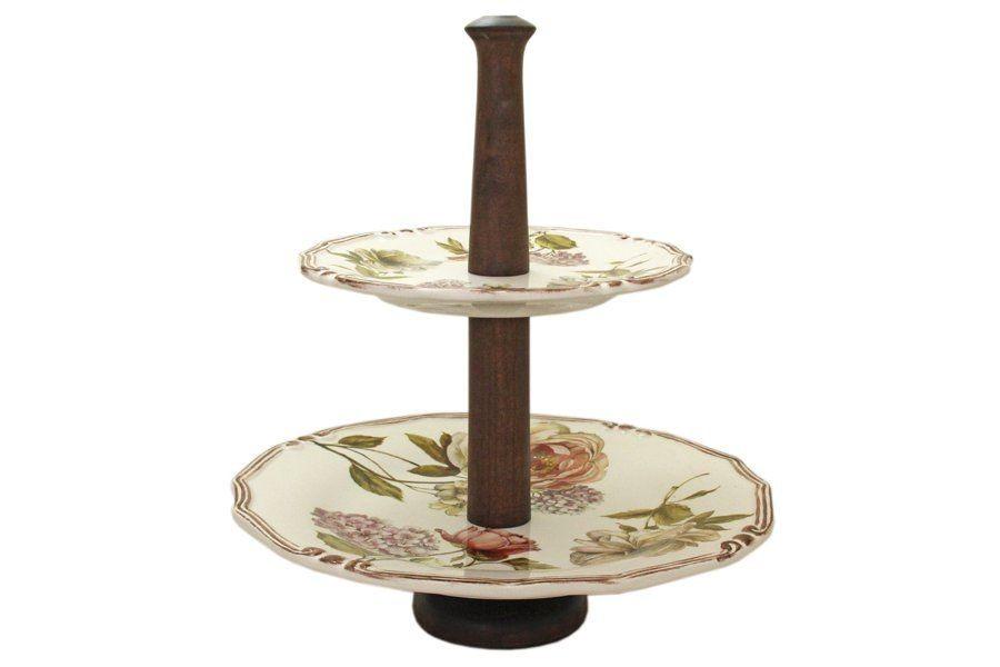 Двухярусная ваза для фруктов Сады Флоренции