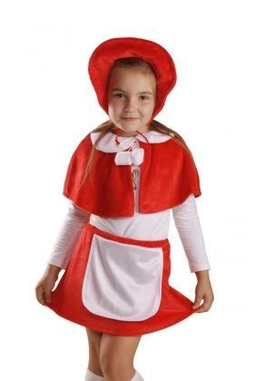 Карнавальный костюм Красная шапочка, плюш