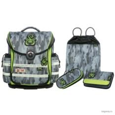 Серо-зеленый школьный ранец McNeill Ergo Light Plus